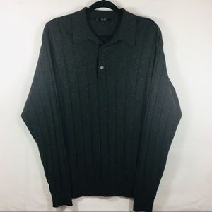 Raffi Linea Uomo Cashmere/Silk Collared Sweater